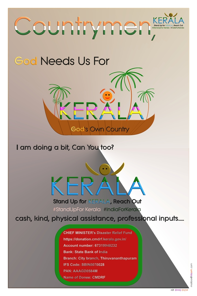 flood,relief,contribution,donation,god,own,country,Kerala,needs,help,